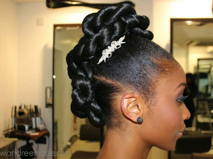 Bridal Series| Two strand twisted updo